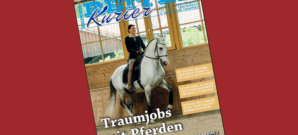 Interview with Anja Beran in the German horse magazine REITER-KURIER